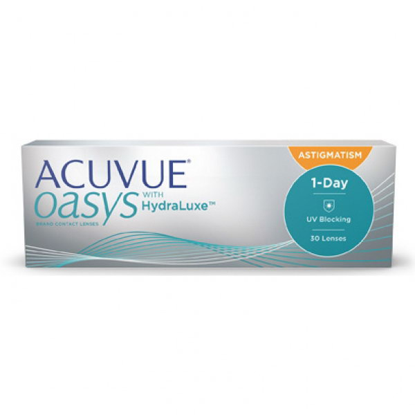 Однодневные линзы ACUVUE OASYS 1-Day with HydraLuxe for ASTIGMATISM